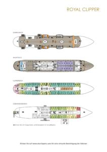 Deckplan Royal Clipper